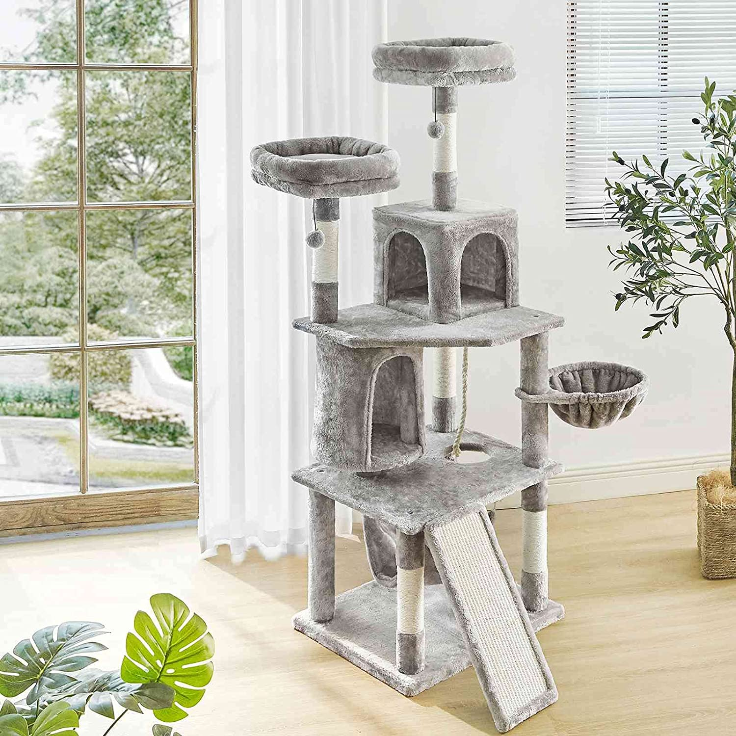 FRITHJILL 6 Levels 64.6 Inches Tall Tree Scratchi Cat with Directly managed Bargain store Large