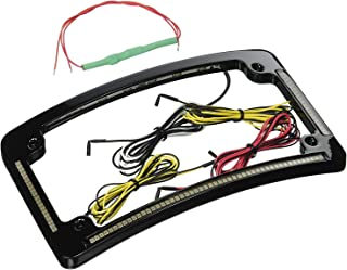 Custom Dynamics TF05-B License Plate Frame (Black Quad Radius All-In-One with Integrated Plate Light, Turn-Signals, and Brake Light) by Custom Dynamics
