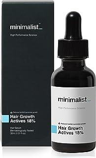 Minimalist Hair Growth Actives 18% Hair Serum | With Procapil, Capixyl, Redensyl, Anagain & Baicapil For Hair Fall Control...