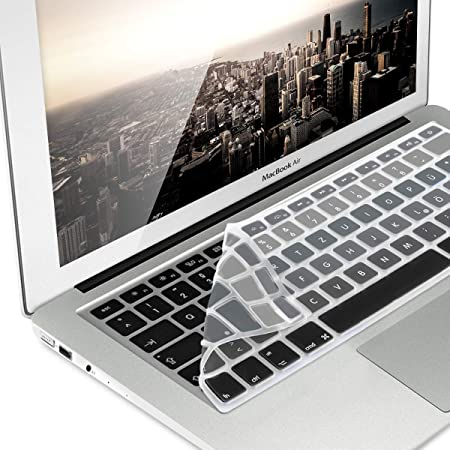kwmobile Protector de Teclado Compatible con Apple MacBook Air 13/ Pro Retina 13/ 15 (de Mediados del 2016) - Lámina para Teclado QWERTZ en ...
