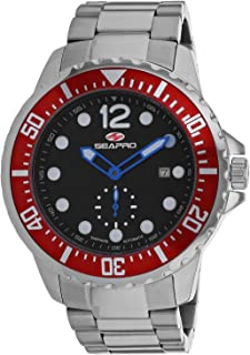 Seapro Men's Colossal Automatic Stainless Steel Strap, Silver, 24 Casual Watch (Model: SP5500)