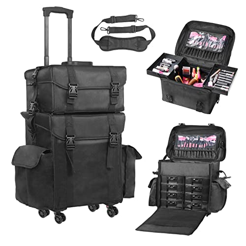 Makeup Case On Wheels Amazon Com