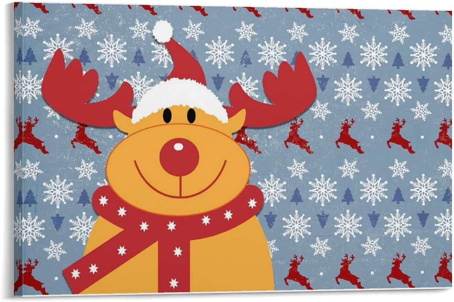 Wall Pictures Christmas Reindeer Made 20x30cm orde Same day shipping to 08x12inch Luxury