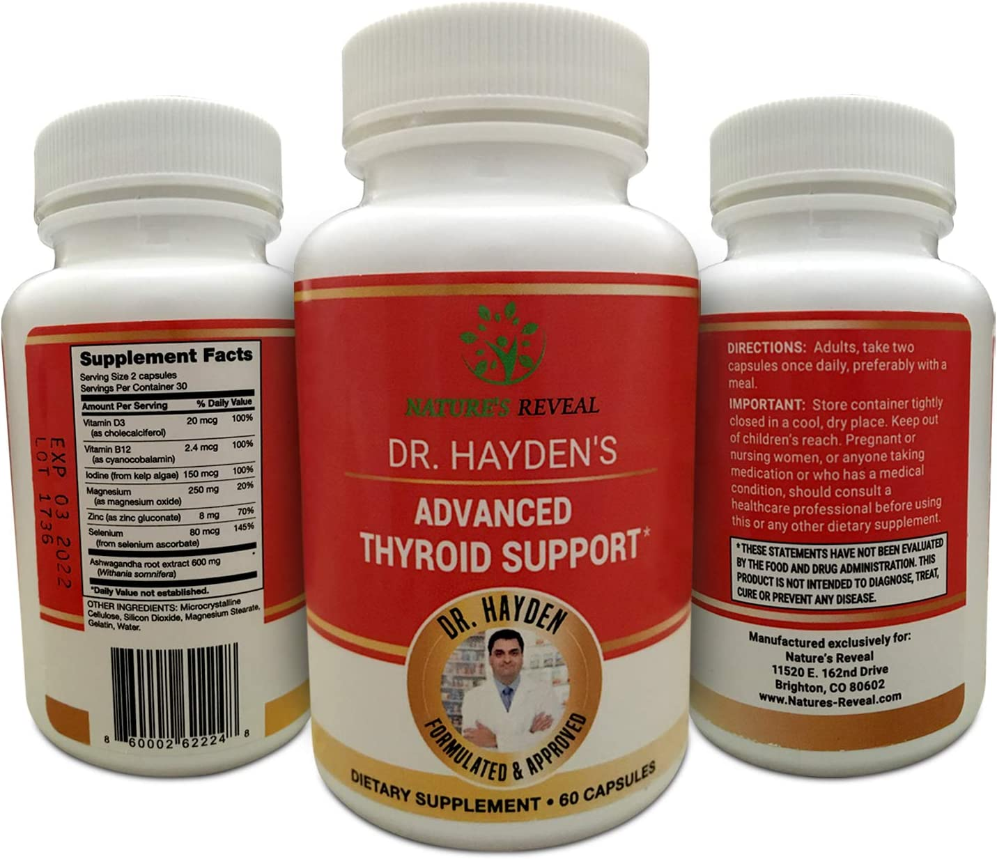 Dr. National products Hayden's Advanced Natural Supplement 35% OFF Contai Thyroid Support