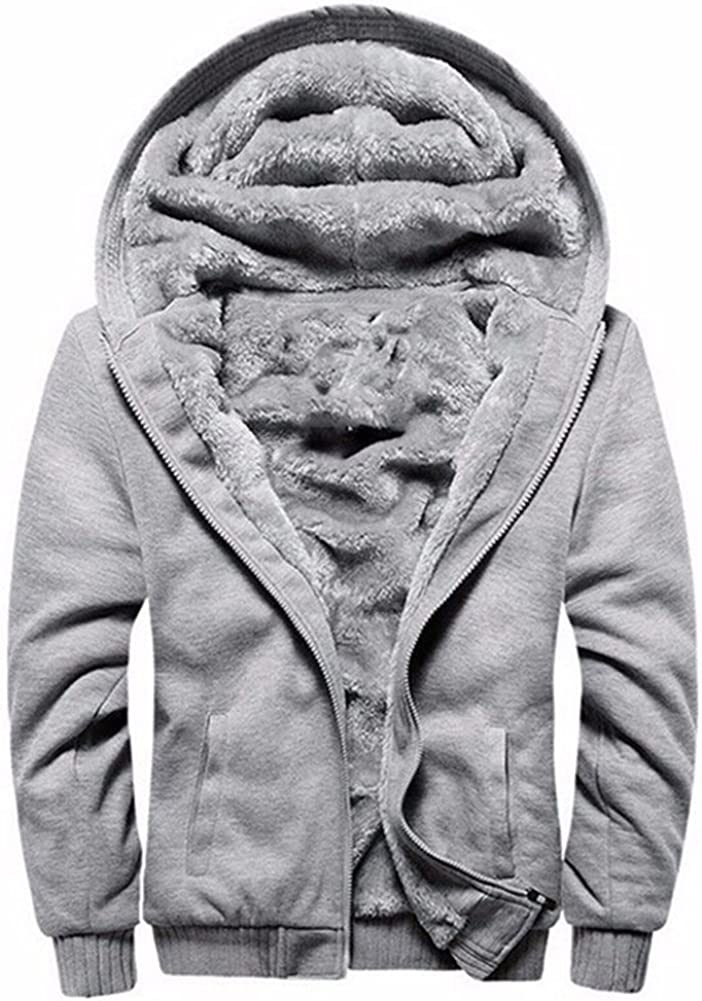 LBL ASALI Men's Pullover Winter Jackets Hooed Fleece Hoodies Sweatshirt Wool Warm Thick Coats