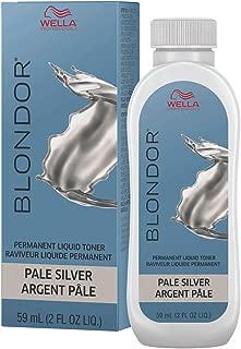 Wella Blonder Permanent Liquid Toner - Pale Silver 2oz