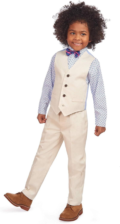 and Vest Izod Boys 4-Piece Vest Set with Dress Shirt Bow Tie Pants