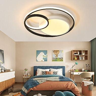 WENY Moderne LED Rond Plafonniers Dimmable avec Télécommande Plafonnier Le Fer Métal Plafonnier pour La Cuisine Salon Chambre