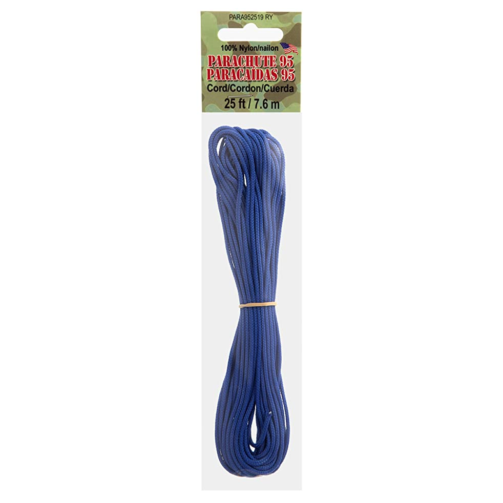 Pepperell PARA952519 Paracord Royal 95 25Ft Multicolor