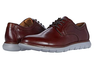 Johnston & Murphy Holden Plain Toe (Mahogany Full Grain) Men