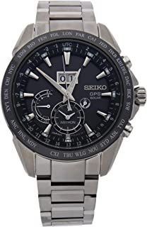 Seiko Astron GPS Solar Quartz (Battery) Black Dial Mens Watch SSE149 (Certified Pre-Owned)