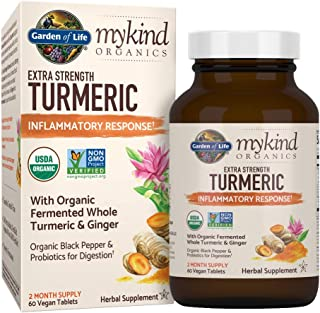 Garden of Life mykind Organics Extra Strength Turmeric Inflammatory Response 60 Tablets-100mg Curcumin (95% Curcuminoids) ...