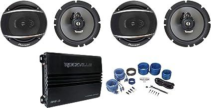"$199 » (4) Pioneer TS-A1677S 6.5"" 320 Watt 3-Way Car Audio Speakers+Amplifier+Amp Kit"