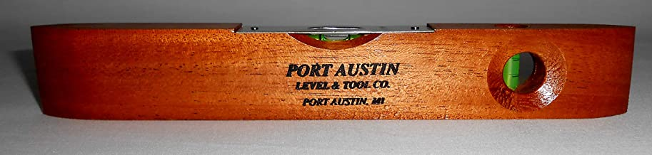 """product image for Port Austin Level & Tool Mfg. Co. Port Austin Level Traditional Wood Torpedo 9"""" two vial Level"""