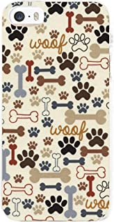 Pscs-aad Dog Footprints and Bones iPhone 5 5S Case, Slim Shockproof Flexible Soft Silicone Rubber TPU Bumper Cover Skin Case for iPhone 5 5S SE