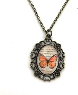 Monarch Butterfly Necklace - Gift for Women - Handmade