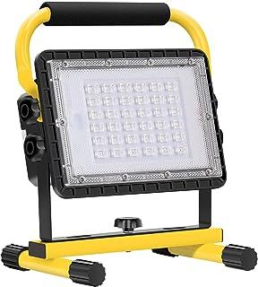 Work Light Rechargeable USB, Eletorot 60W LED Flood Light 20800mAh Portable Camping Light Cordless Job Site Construction L...