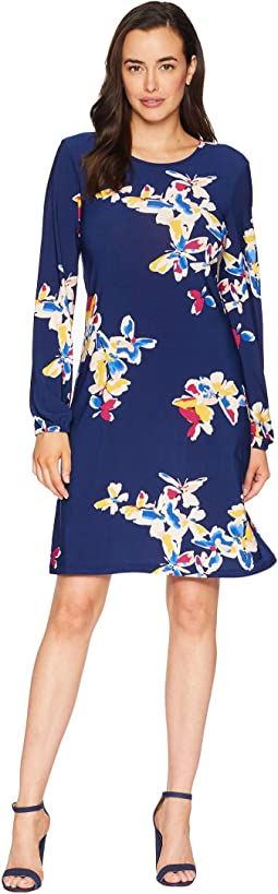 Ity Printed Long Sleeve Dress