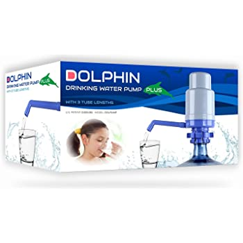 Improved Generation Dolphin Water Bottle Pump with 4 Tubes Fits Most 2-6 Gallon Cooler Excluding Glass