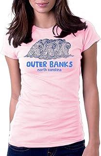Women's Outer Banks North Carolina Wave Beach Surf Tee T-Shirt