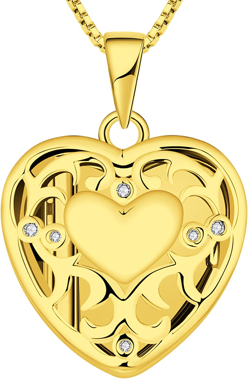 Max 84% OFF YL Heart Locket Picture Necklace Personalize 925 Sterling Silver 2021 new
