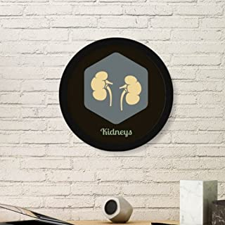 DIYthinker Body Internal Organs Kidney Round Picture Frame Art Prints of Paintings Home Wall Decal Gift