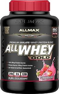 ALLMAX Nutrition AllWhey Gold Whey Protein, Strawberry, 5 lbs