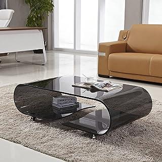 CJDM Table Basse en Verre Amovible, Table Basse Simple, mobilier de Bureau de Salon de Table Ronde Moderne Simple et créat...