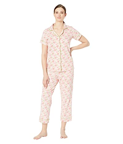 BedHead Pajamas Short Sleeve Cropped Pajama Set (Flower Bed) Women