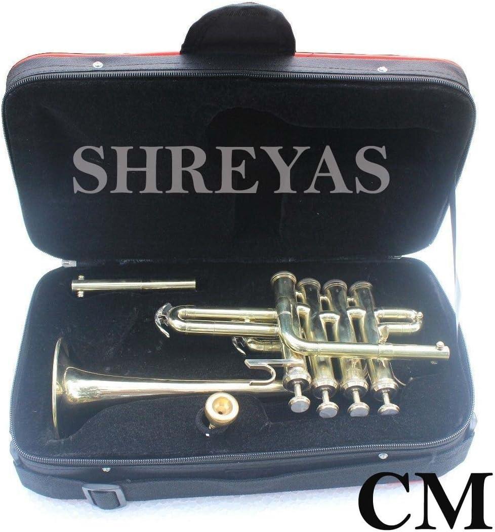 Shreyas Piccolo Manufacturer direct delivery Trumpet Brass Finish Picollo A W Case-M Bb 2021 autumn and winter new Pitch