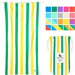 Dock & Bay Beach Towel Backpacking Gear XL - Paradise Picnics, Extra Large (200x90cm, 78x35) - Beach Travel Towels & Camping Towels