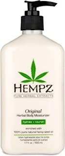 Original, Natural Hemp Seed Oil Body Moisturizer with Shea Butter and Ginseng, 17 Fl Oz..