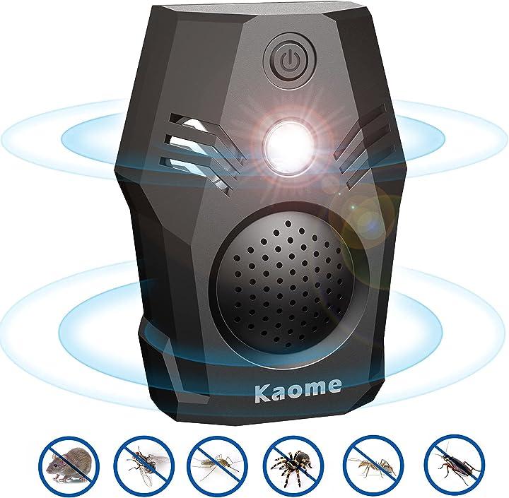 Repellente ultrasuoni tipo-c portatile bionic ultrasonic insect repeller forte lampeggiante led kaome