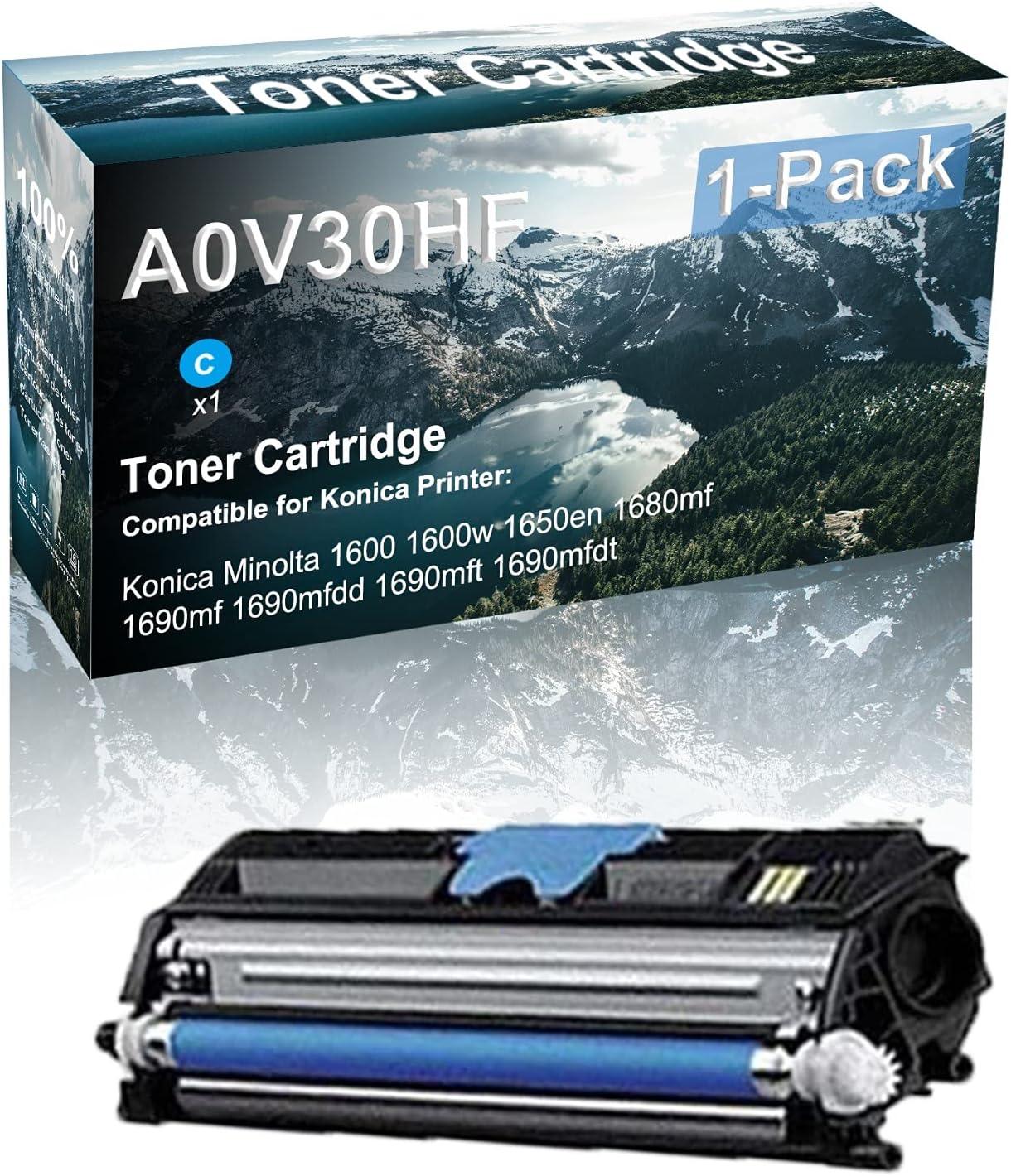 1 Pack (Cyan) Compatible Toner Cartridge Replacement for Konica A0V30HF Printer Toner use for Konica Minolta 690mf 1690mfdd 1690mft 1690mfdt Printer(High Capacity )
