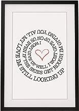 Jason Mraz 'I Won't Give Up' Song Lyrics Framed A4 Print | 12x10 Inch - His Her Gift for Valentines Day Wedding Anniversary Birthday