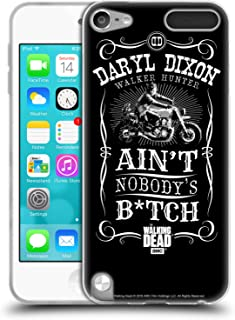 Official AMC The Walking Dead Motorcycle Black White Daryl Dixon Biker Art Soft Gel Case Compatible for Apple iPod Touch 5G 5th Gen