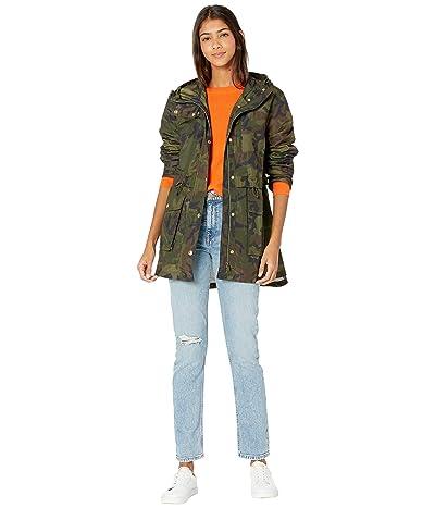 J.Crew Perfect Rain Jacket in Camo (Rain Camo/Deep Green) Women