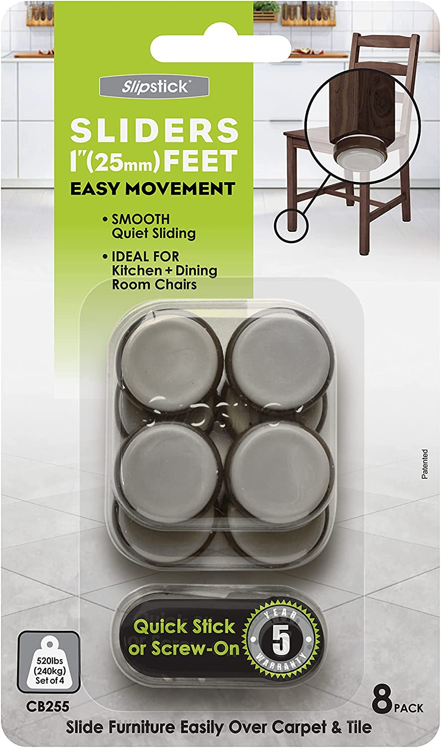 Slipstick Chocolate CB255 1 Over item handling Inch Glides Protector Fu Chair Floor We OFFer at cheap prices