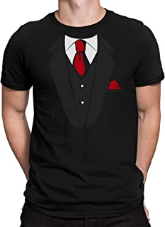 vanVerden Herren T-Shirt Falscher Anzug mit Krawatte Junggesellenabschied JGA Party Kostüm