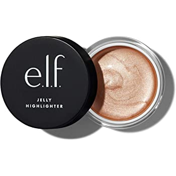 e.l.f, Jelly Highlighter, Smooth, Dewy, Versatile, Long Lasting, Illuminizing, Adds Glow, Blends Easily, Bubbly - White Gold, Applies Wet, 0.44 Fl Oz