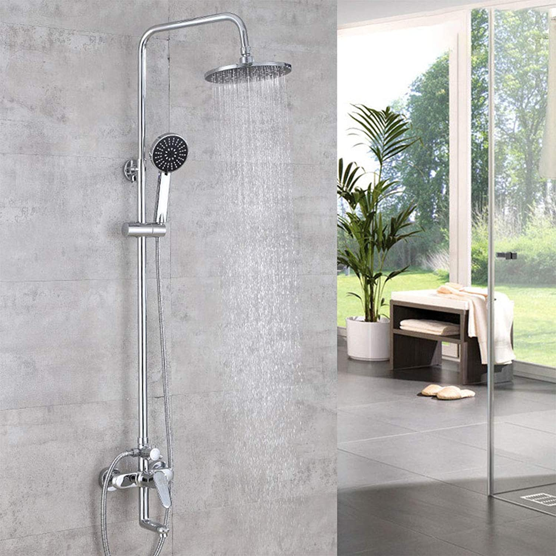 Duschset Duschsystem Regendusche Duschkopf Duscharmatur Duschstange Brause Chrom