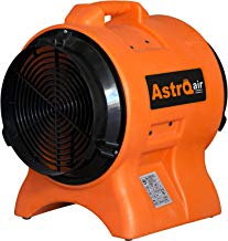 """AstroDry 12"""" Axial Blower 1HP High Velocity Utility Air Mover Carpet Floor Dryer Fan Industrial Confined Space Ventilator -Orange,AT110"""