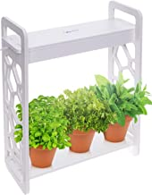 Mindful Design LED Indoor Herb Garden with Timer - at Home Mini Planter Kit for Herbs, Succulents, and Vegetables w/Hexago...