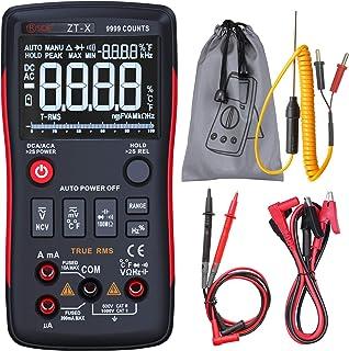 Bside EBTN Digital Multimeter 3-Line Display 9999 Counts Button Design True RMS Auto-Ranging DMM AC/DC Amp Volt Ohm Hz Dio...