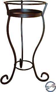 Louis Moulin Porta Vaso con sottovaso Volute, Ferro Anticato