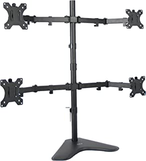 VIVO Quad LCD Computer Monitor Mount Free Standing Heavy Duty Desk Stand, Fully Adjustable, Holds 4 Screens Up to 30 Inche...