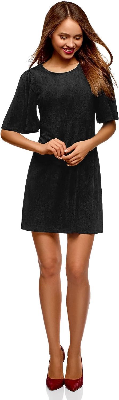 Oodji Ultra Women's Faux Suede ALine Dress