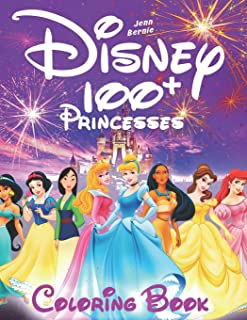 100+ Disney princesses coloring book (illustrated): Princesses coloring book. 103 illustrations. Coloring book for girls, Disney coloring book. 2019 edition