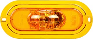 Truck-Lite 60420Y 60 Series, LED, Oval, 6 Diode, Side Turn Signal, Yellow Flange Mount, Fit 'N Forget S.S, 12V
