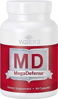 MegaDefense Immune Support Supplement, Daily Wellness, Agaricus, Ganoderma Multi-Mushroom Blend, Certified Organic, Non-GM...